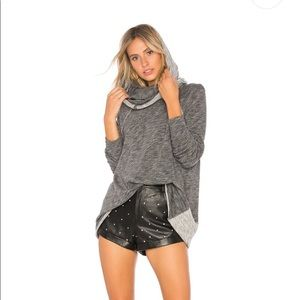 Free People Beach Gray Cocoon Cowl Neck Top XS / S